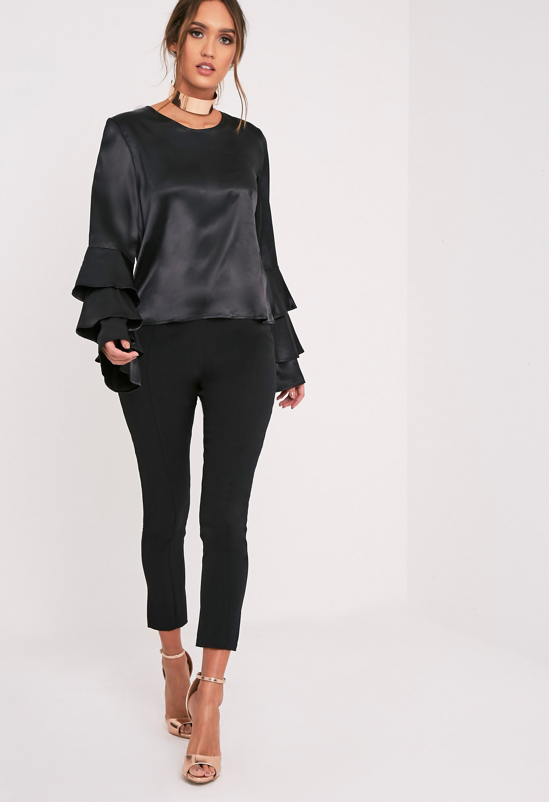 Layle Black Frill Sleeve Woven Blouse 5