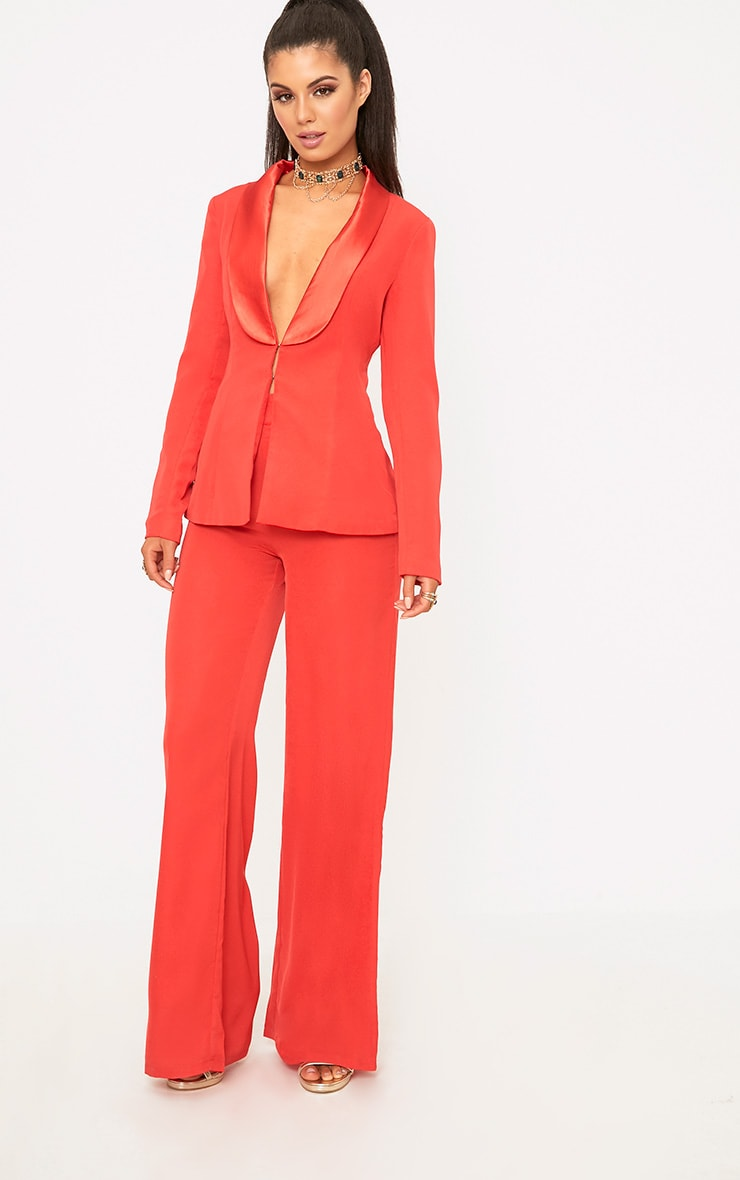 601feea551ff Red Wide Leg Suit Pants | Pants | PrettyLittleThing USA