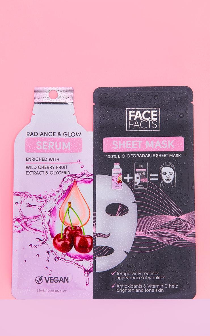 Face Facts - Masque feuille et sérum Radiance & Glow 1