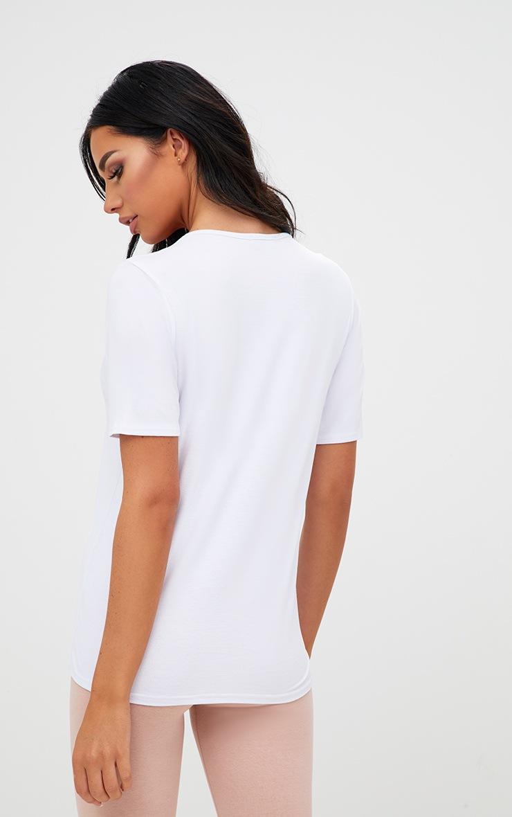 Basic White & Nude 2 Pack V Neck T Shirt   3