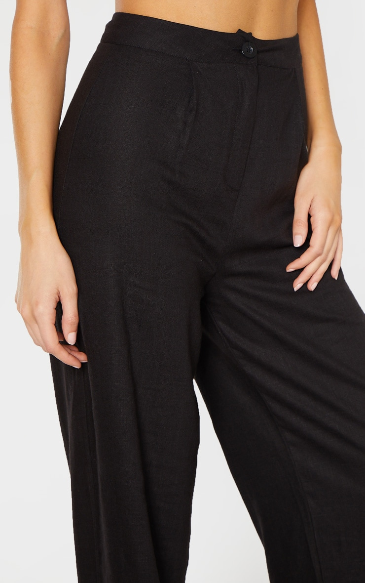 Tall Black Wide Leg High Waist Pant 4