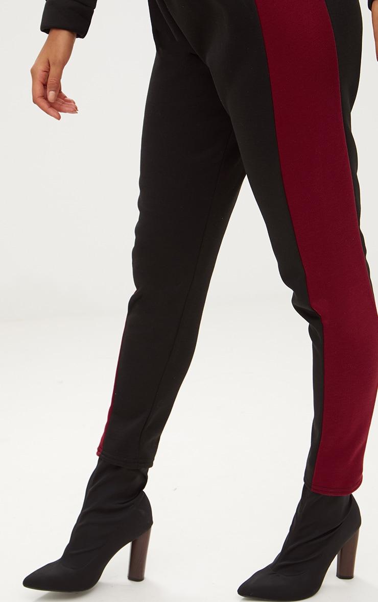 Black Contrast Side Stripe Joggers 5