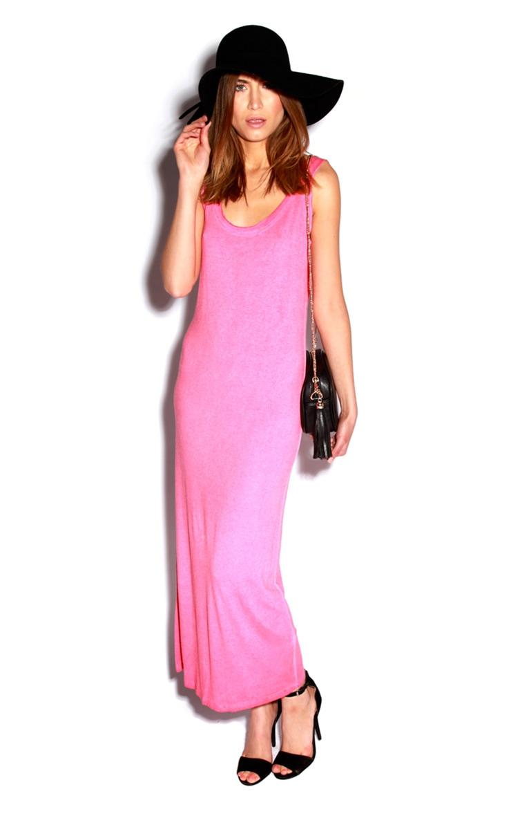 Pink Sleeveless Maxi Dress 1