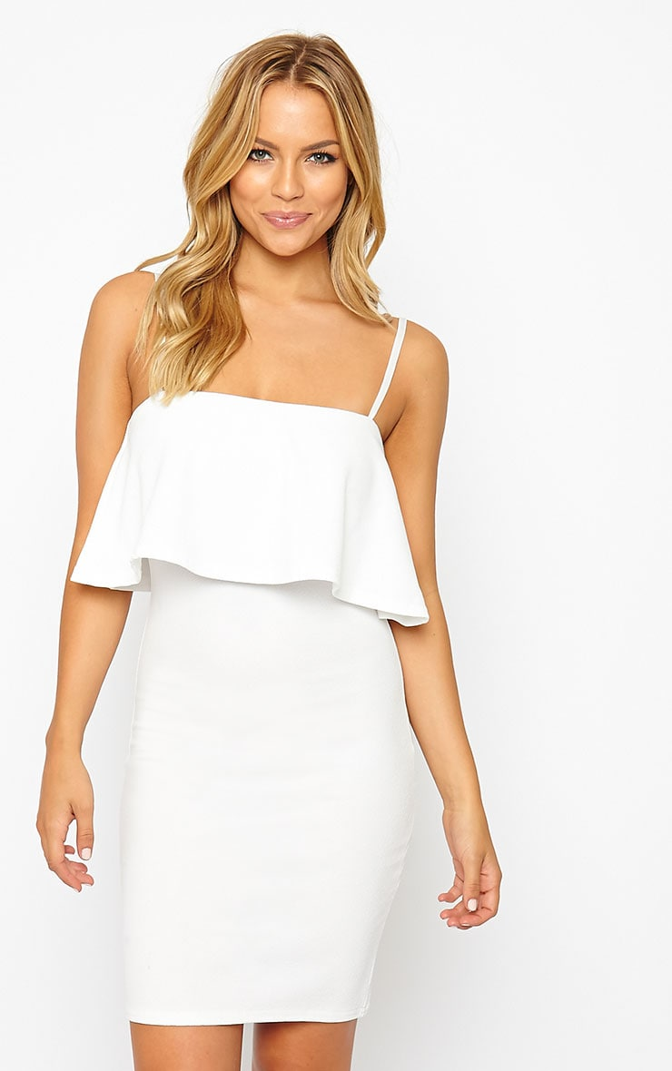 Hari Cream Frill Front Mini Dress 4