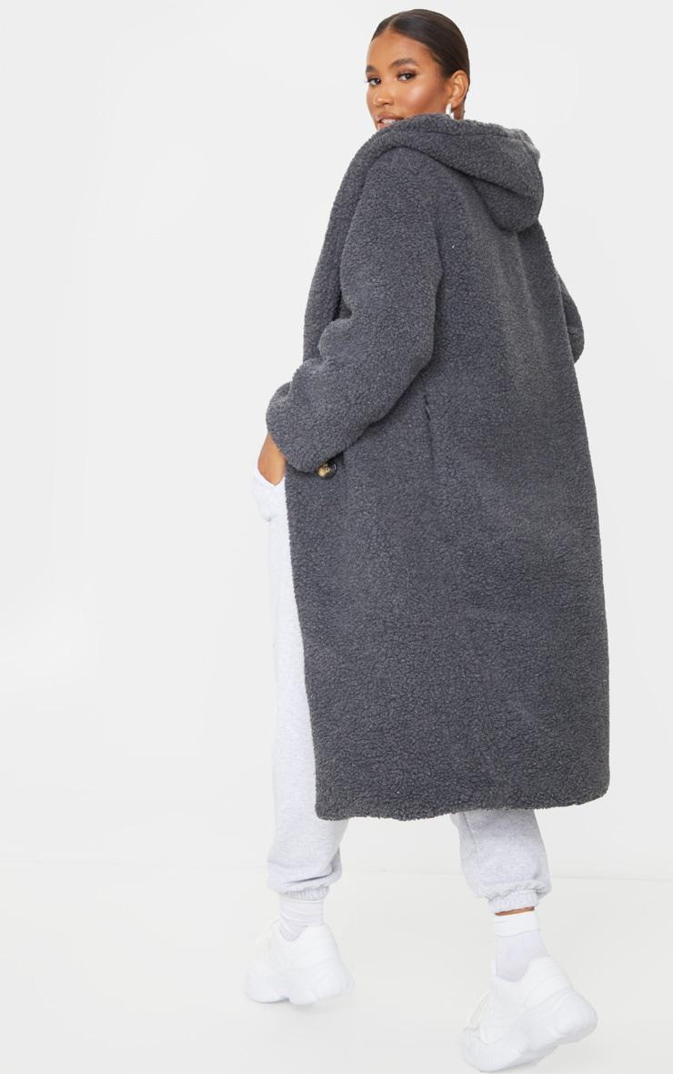 Grey Borg Hooded Midi Coat 2