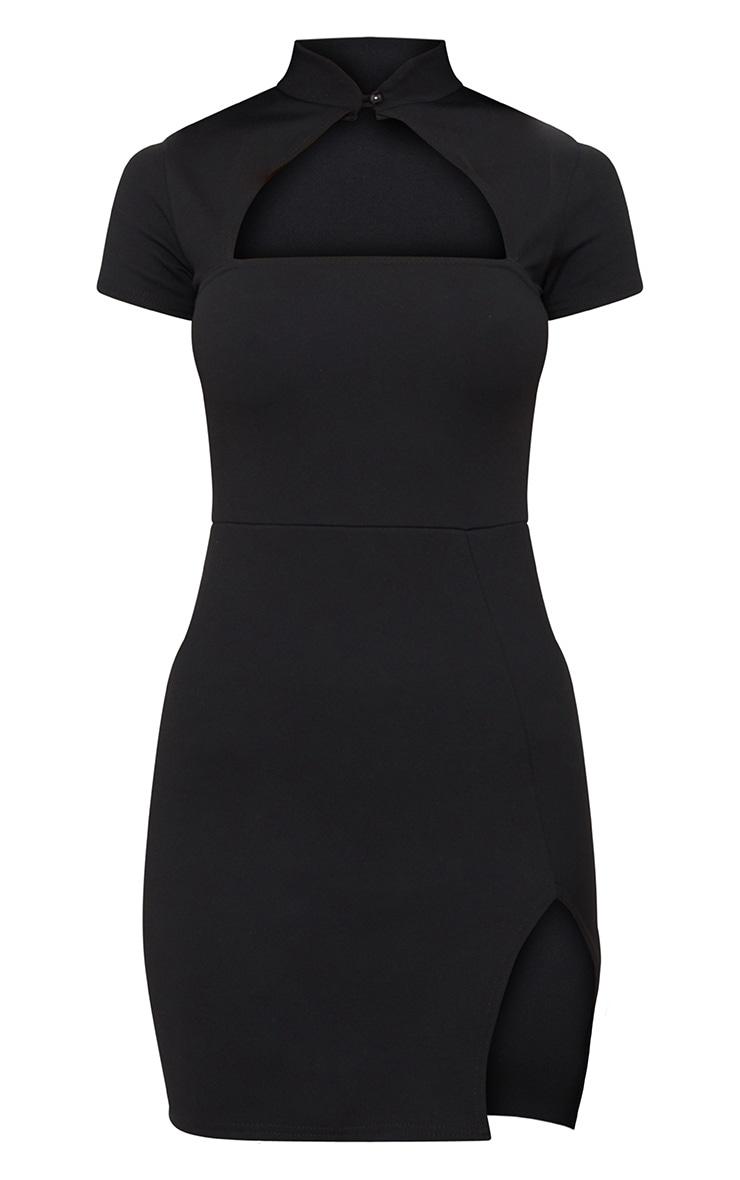 Black Oriental Bodycon Dress 3