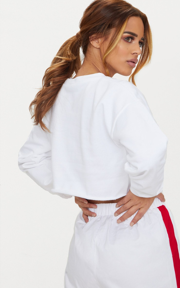 Petite White Cropped Sweater 2