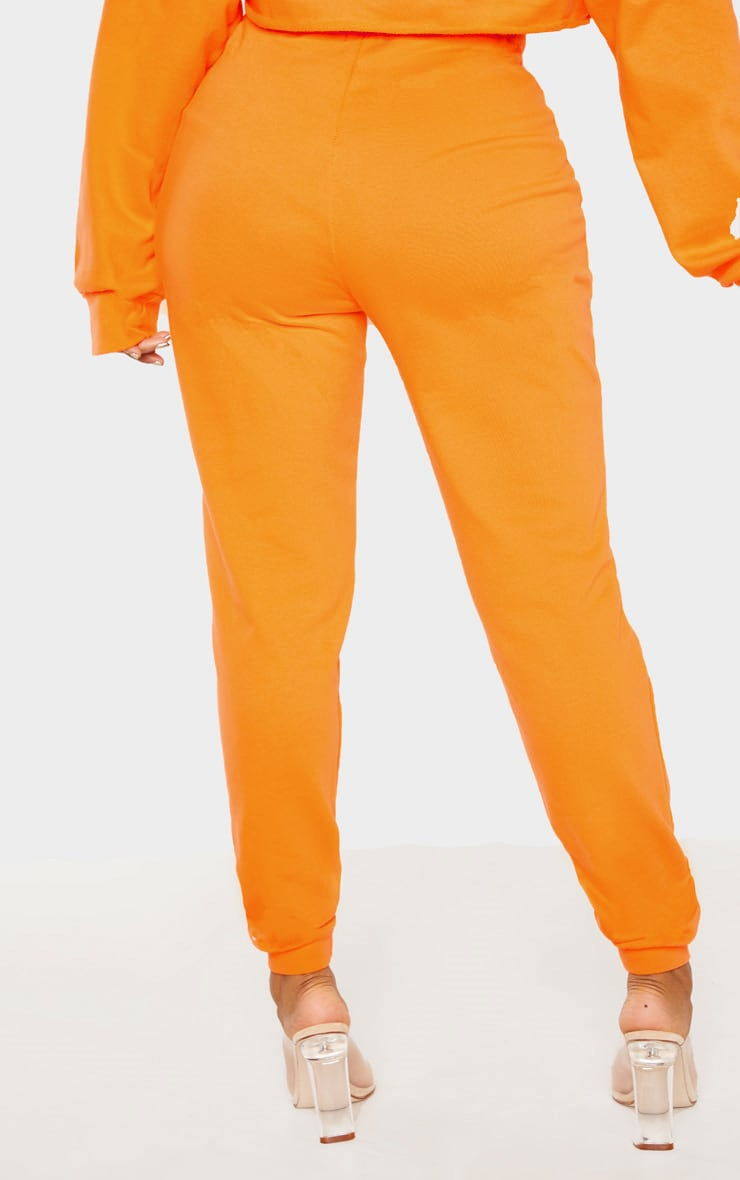 Shape Bright Orange Elastic Bottom Joggers 4