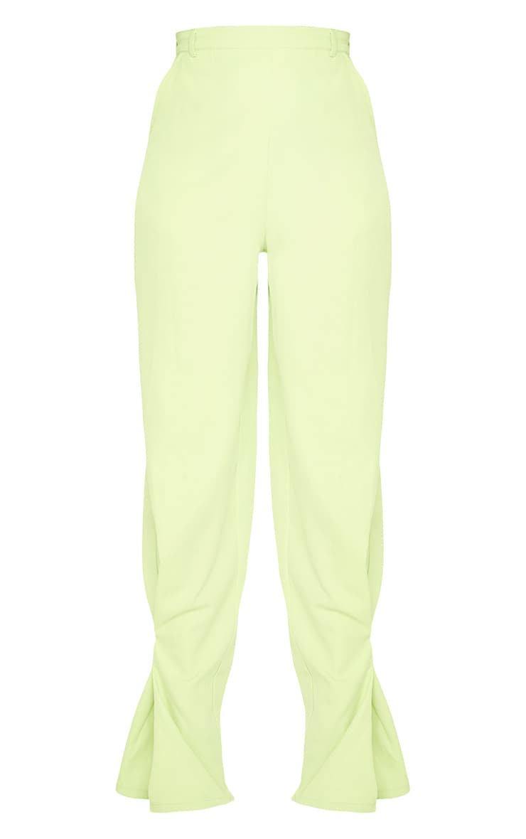 Lime Pleated Detail Tapered Hem Trousers 5
