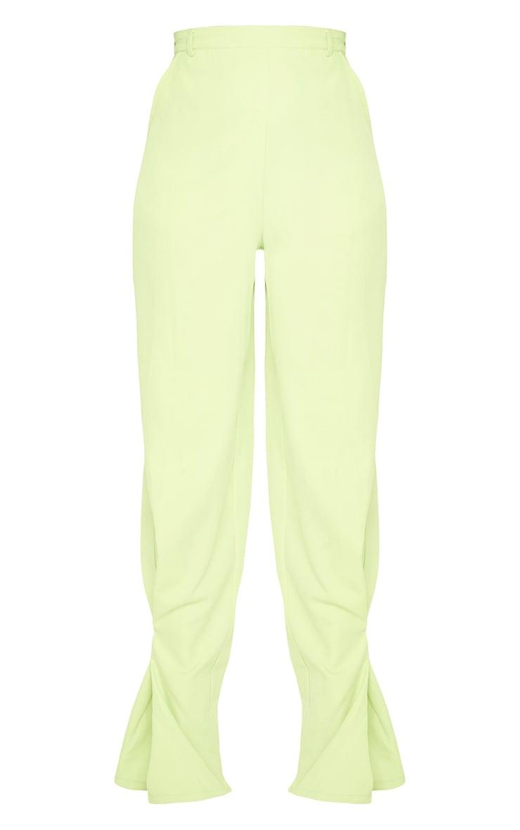 Lime Pleated Detail Tapered Hem Pants 5