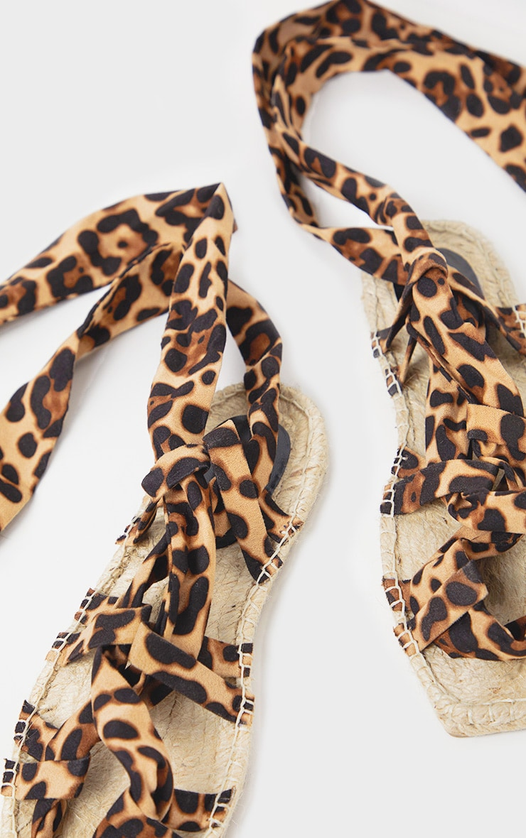 Leopard Espadrille Ghillie Sandal 4