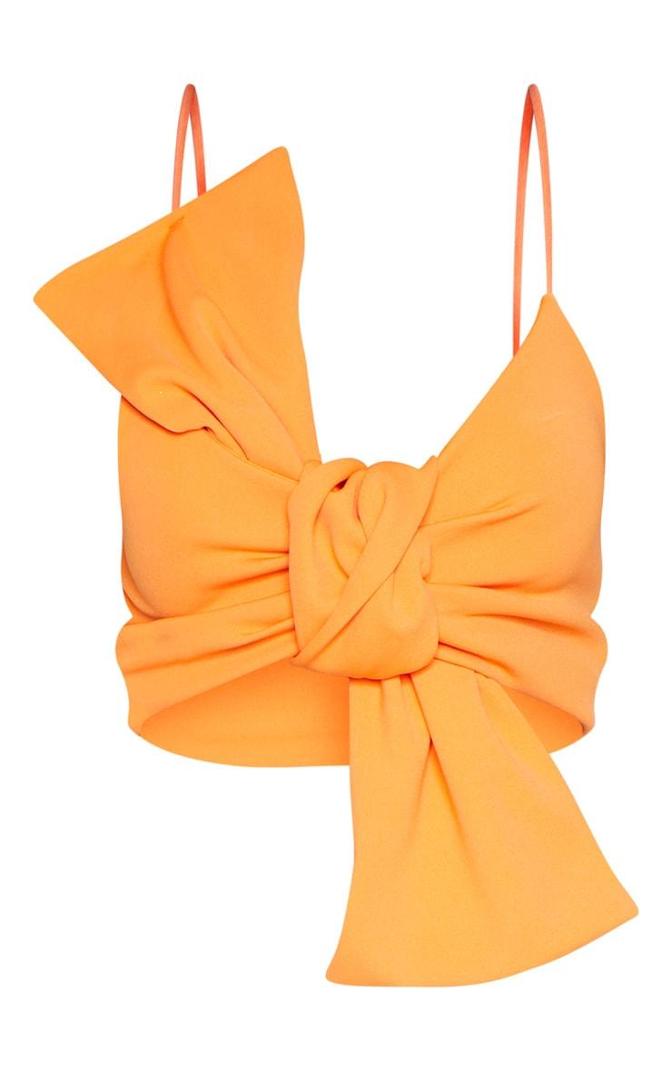 Orange Bow Front Crop Top 3