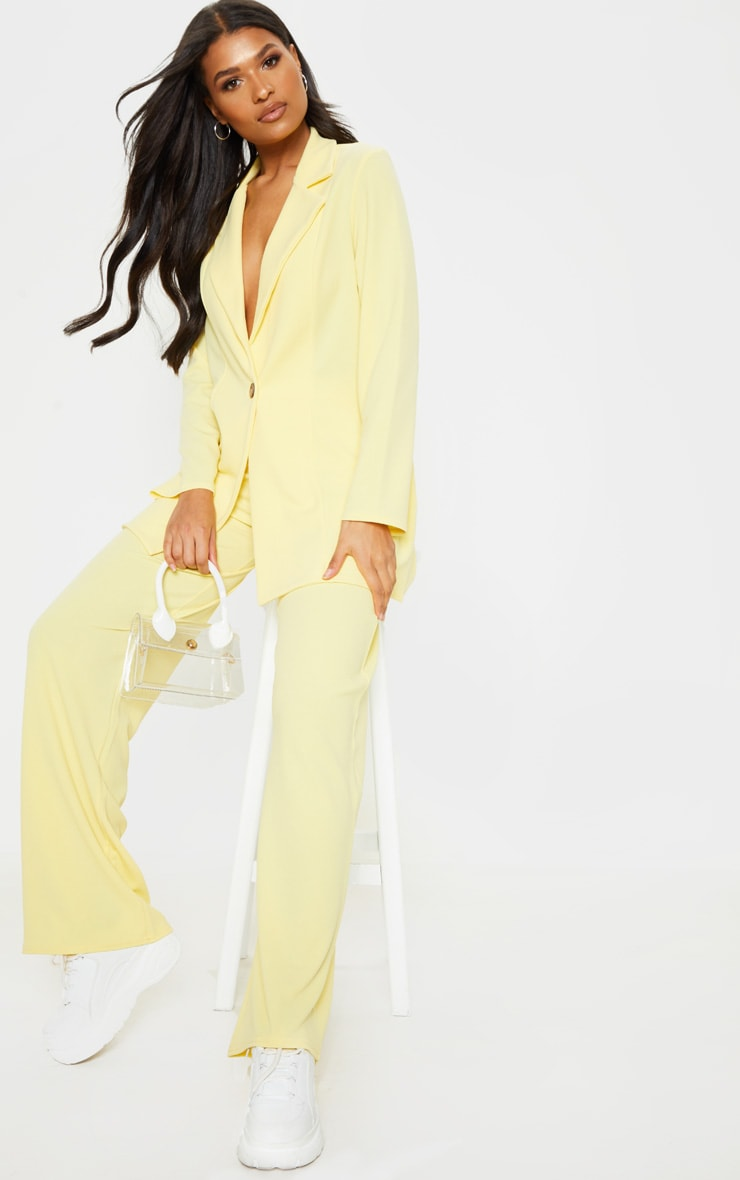 Lemon Oversized Boyfriend Blazer 4