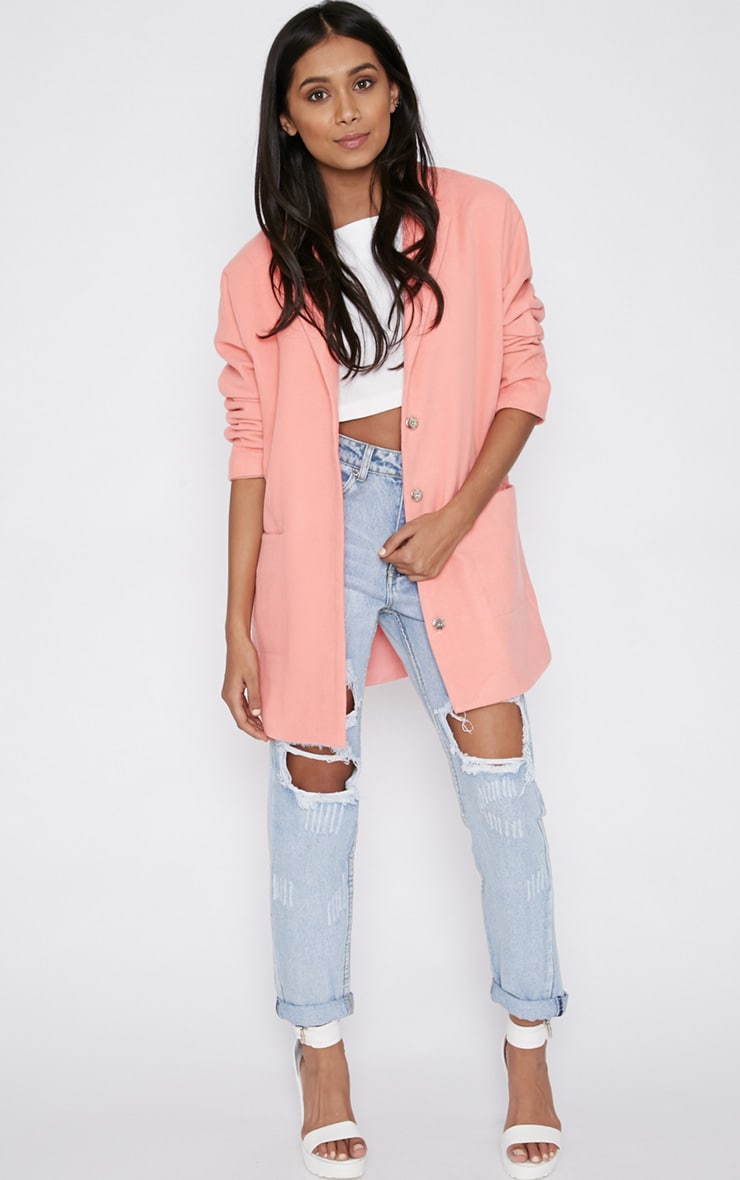 Hope Pink Boyfriend Coat -14 5