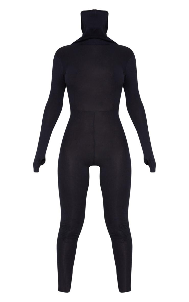 Black Long Sleeve Mask Jumpsuit 6