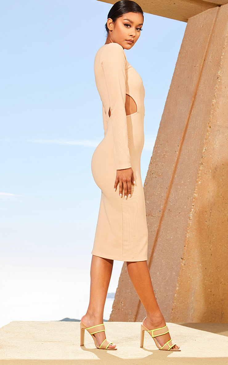 Nude Second Skin Cut Out Side Midi Dress 4