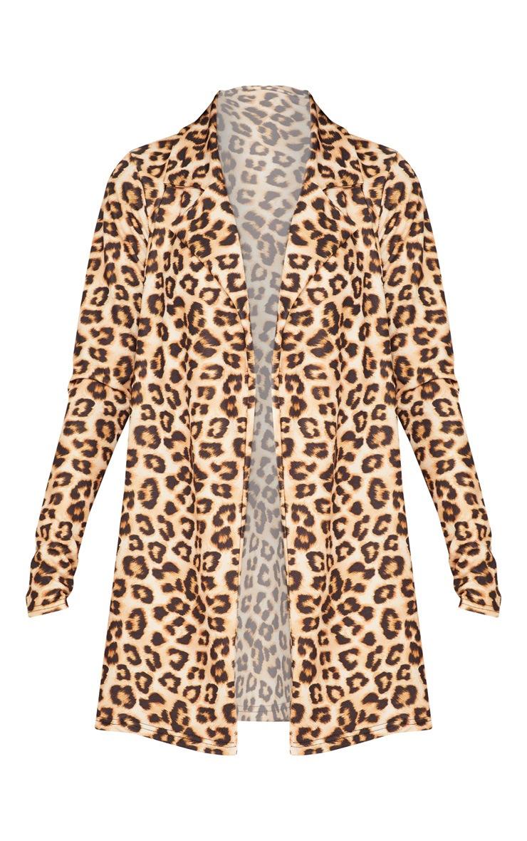 Brown Leopard Blazer  3