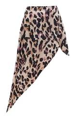 Leopard Print Satin Asymmetric Skirt 6