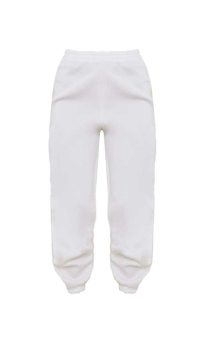 White Scuba Cuffed Hem Joggers 5