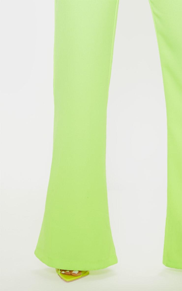 Petite Neon Lime Wide Leg Suit Pants 5