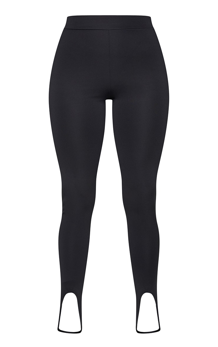 Black Scuba Sculpt Stirrup Leggings 5