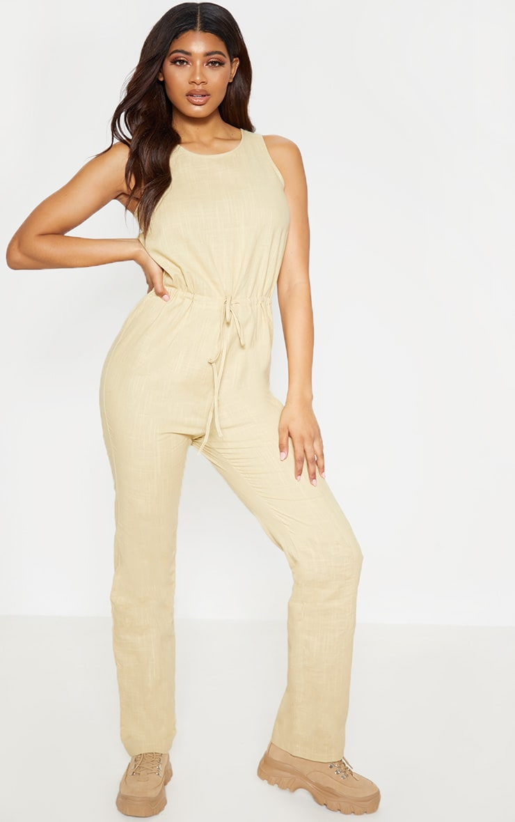 Tall Stone Casual Tie Waist Straight Leg Jumpsuit 4