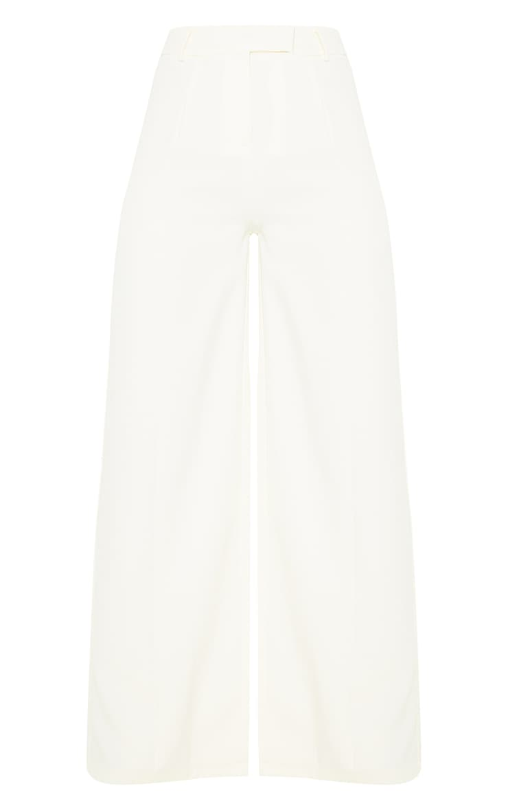 Cream Woven Tailored Wide Leg Trousers 5