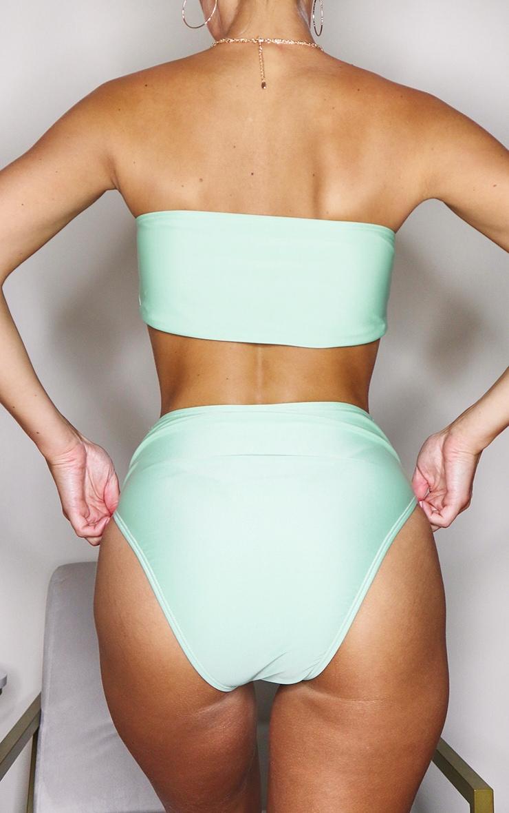 Sage Green Mix & Match High Waist Bikini Bottoms 2