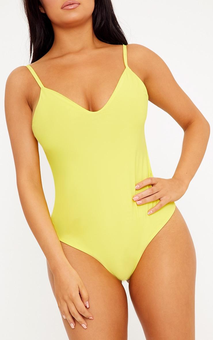 Shape Francina Lemon Slinky Plunge Bodysuit 6
