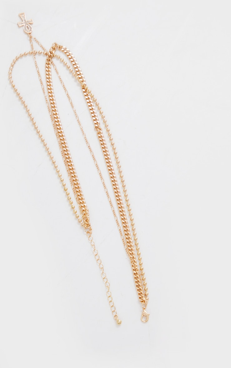 Gold Ank Multi Layering Necklace 4