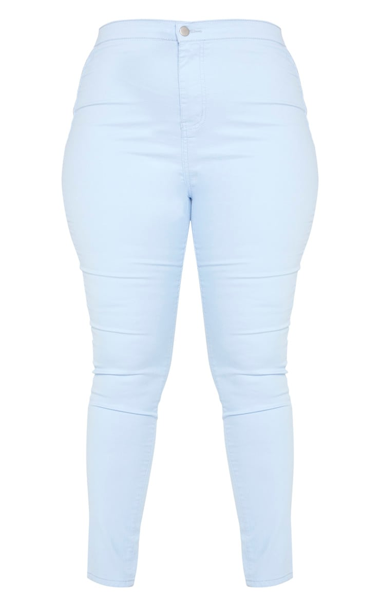 Plus Pale Blue Stretch Jegging 3