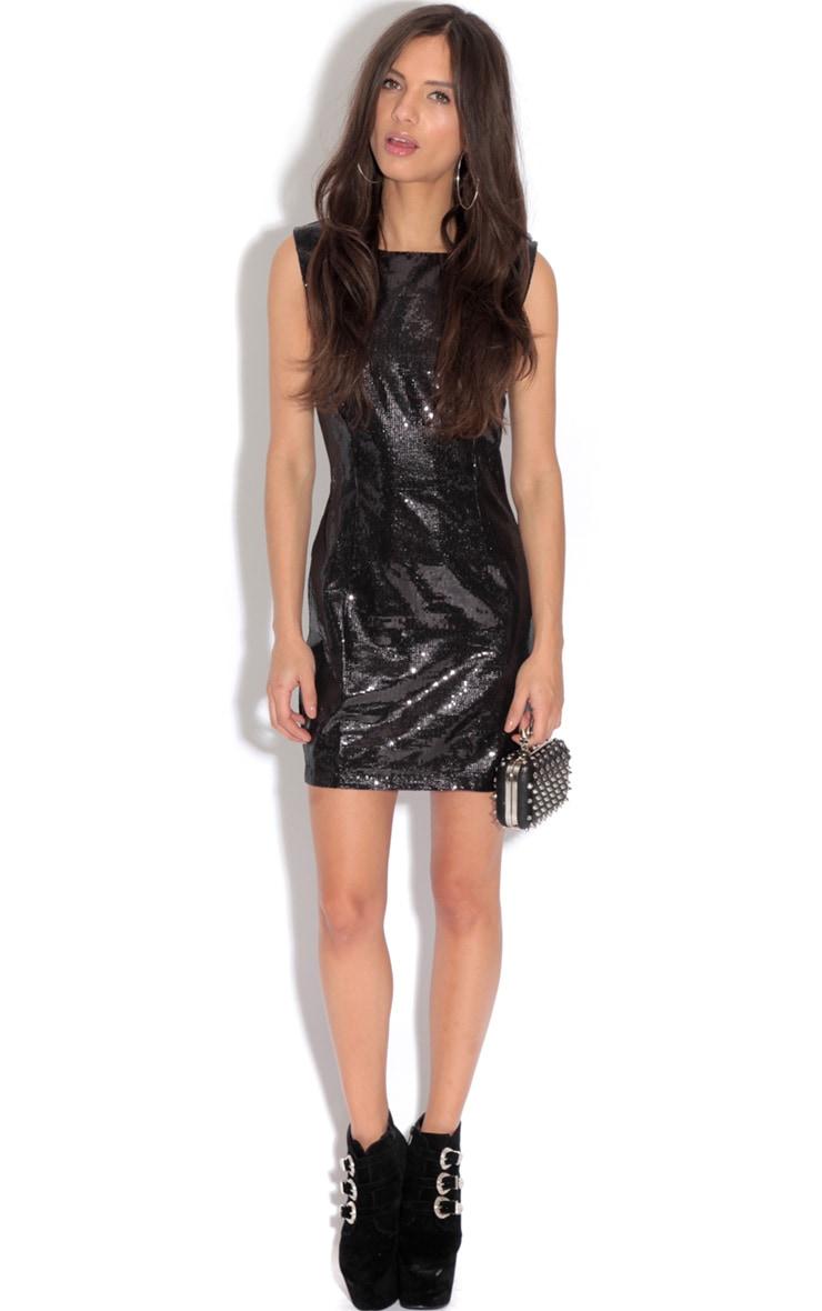 Ingrid Black Sequin Dress 3
