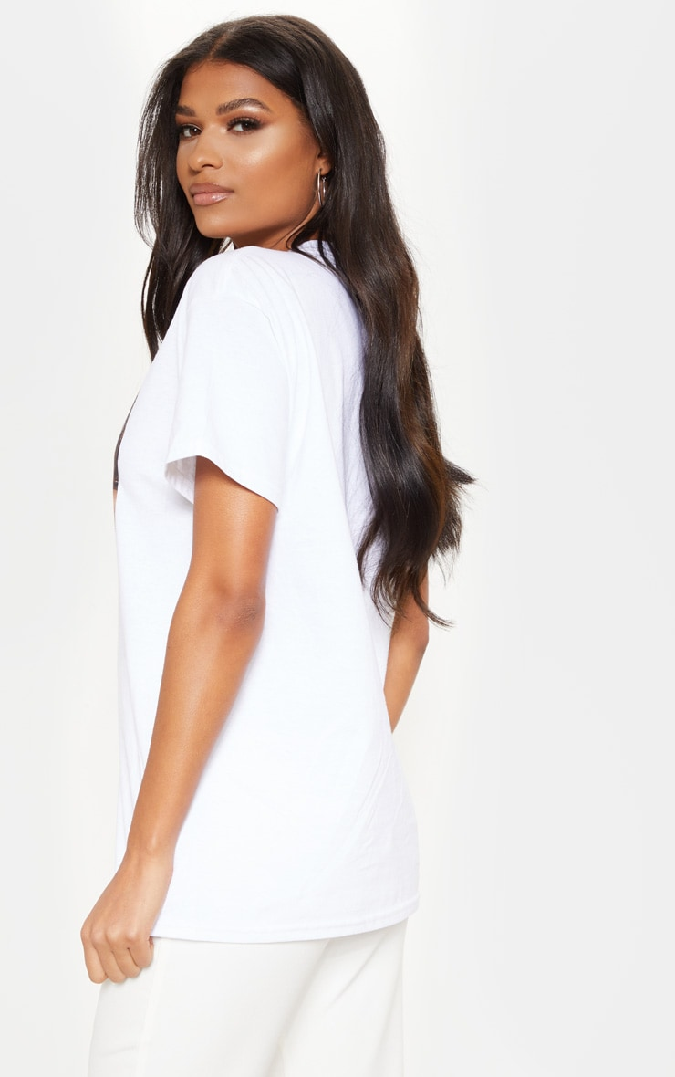 T-shirt oversize blanc imprimé Devil wears Prada 2