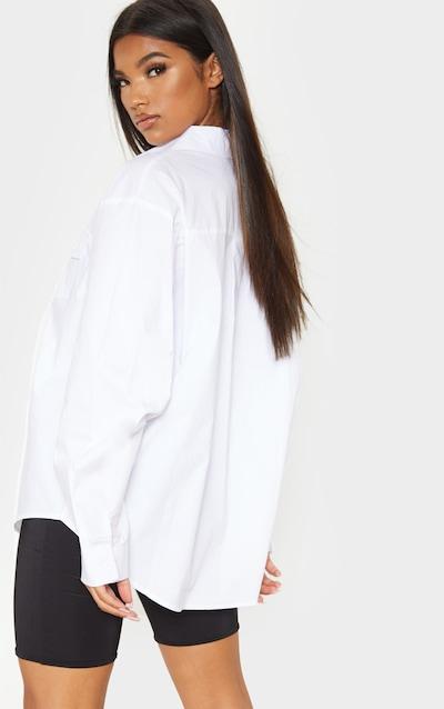 White Pocket Front Oversized Shirt