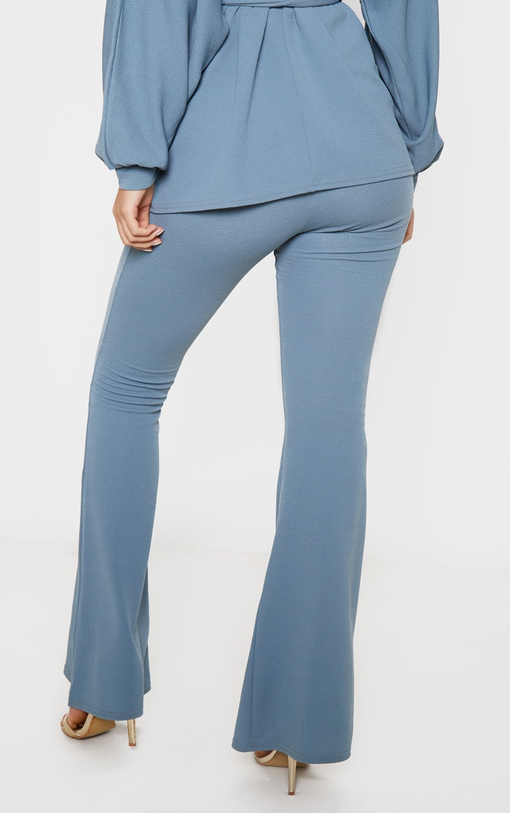 Petrol Blue Flared Trouser 3