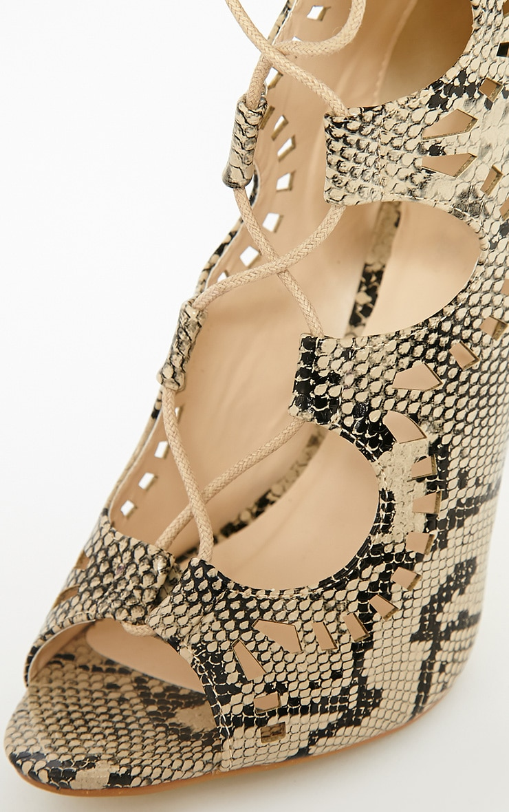 Xylia Snake Cut Out Detail Heels 7