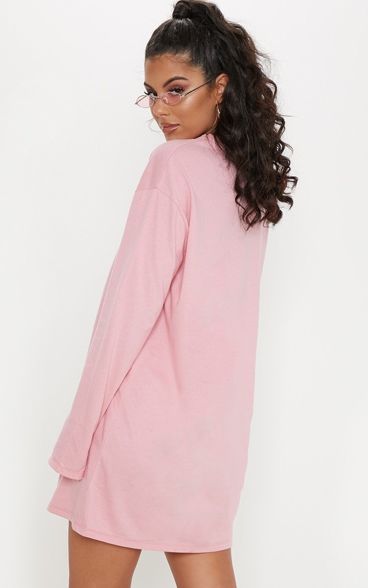 Migos Pink Do It For The Culture Pink Long Sleeve T Shirt Dress 2