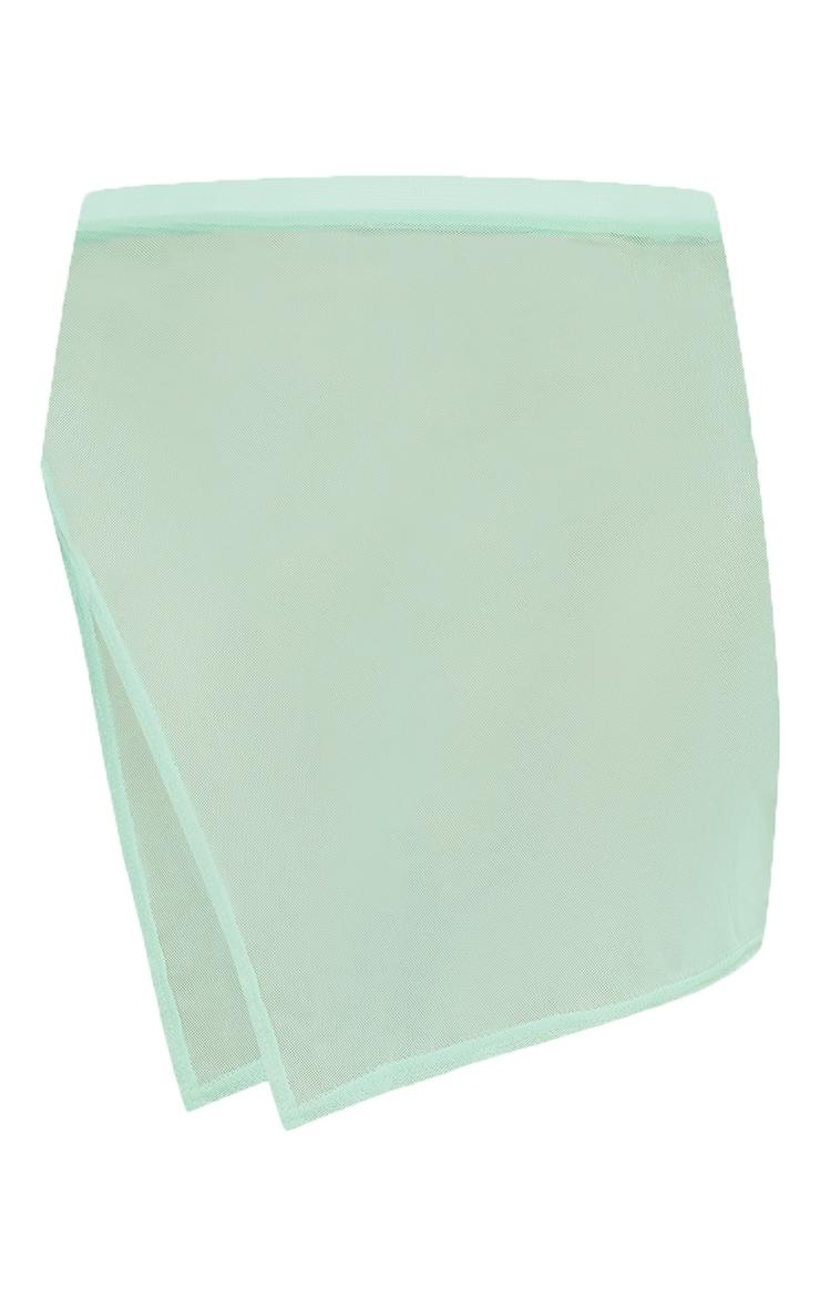 Mint Split Side Beach Skirt 6