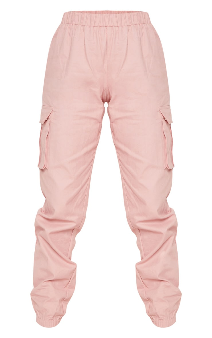 Petite Dusty Pink Pocket Detail Cargo Trousers 3