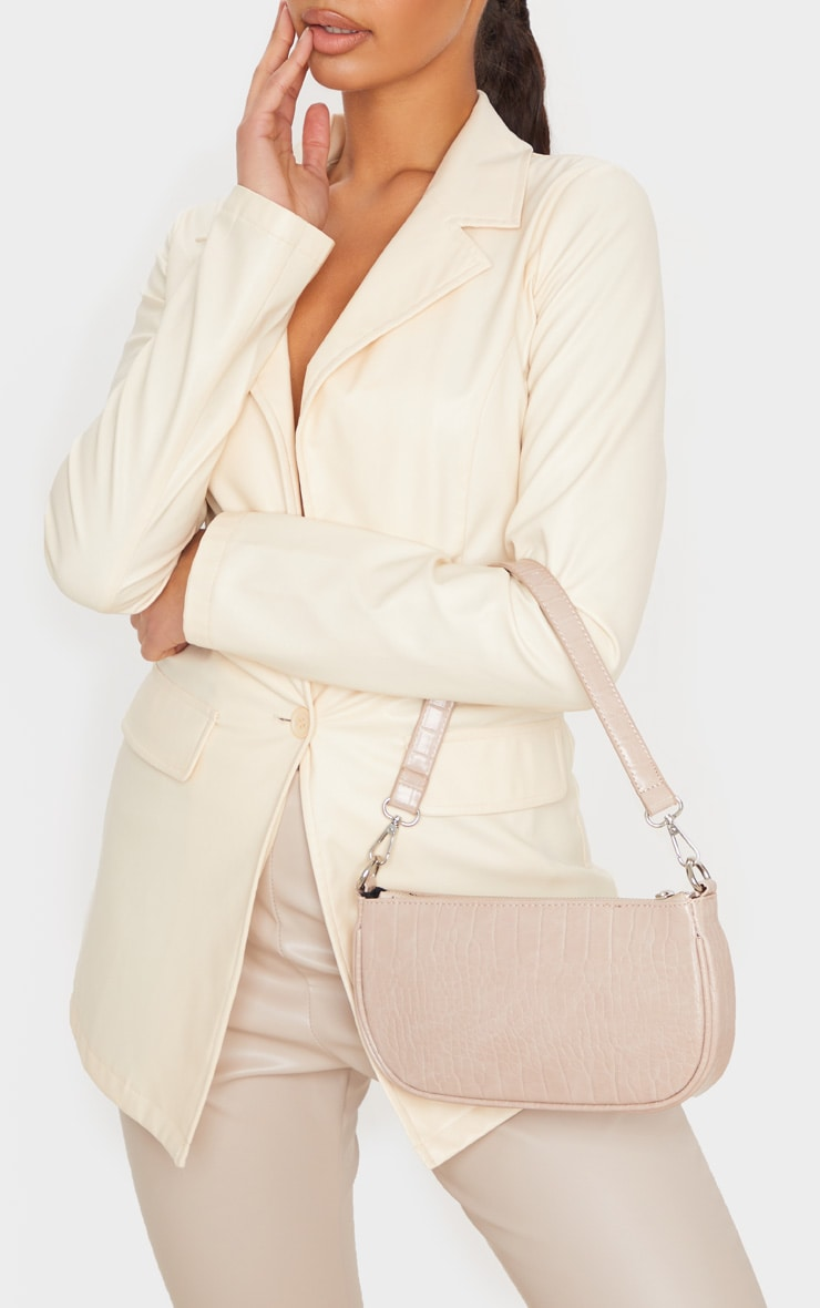 Nude Croc 90s Shoulder Bag 2