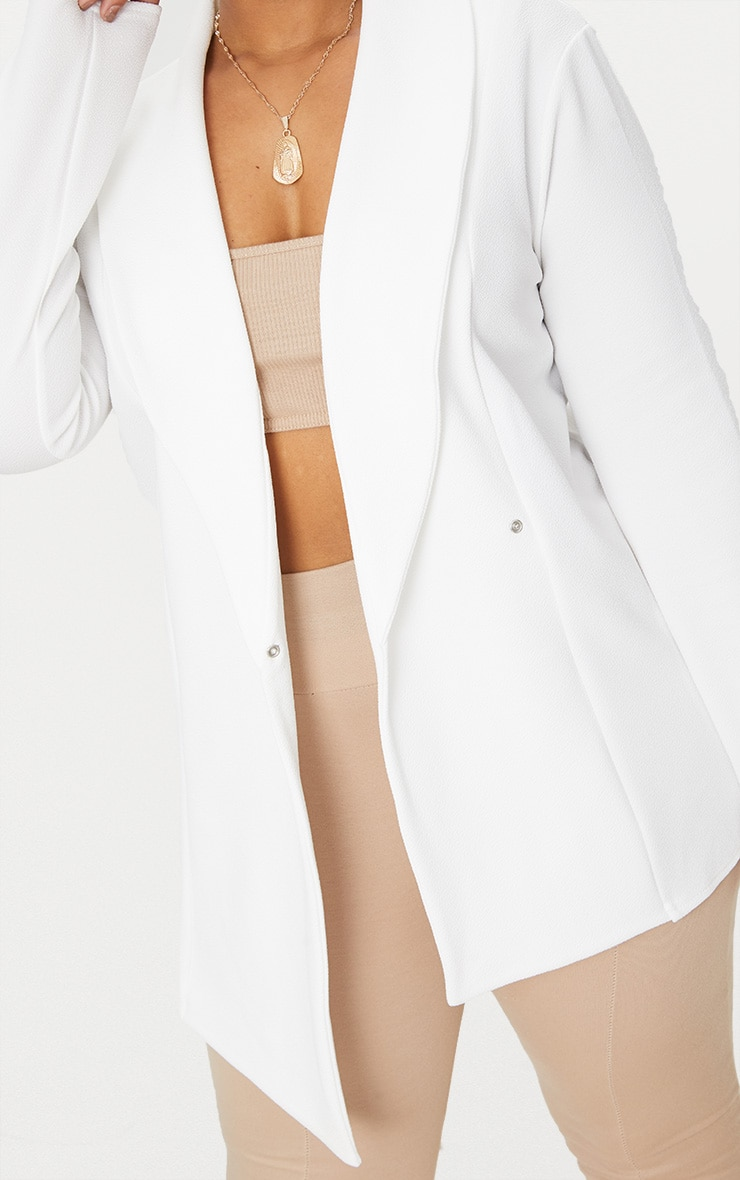 Plus White Wrap Detail Blazer 5