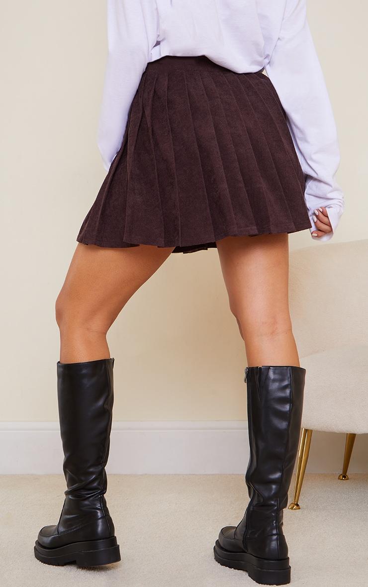 Chocolate Cord Skater Skirt 3