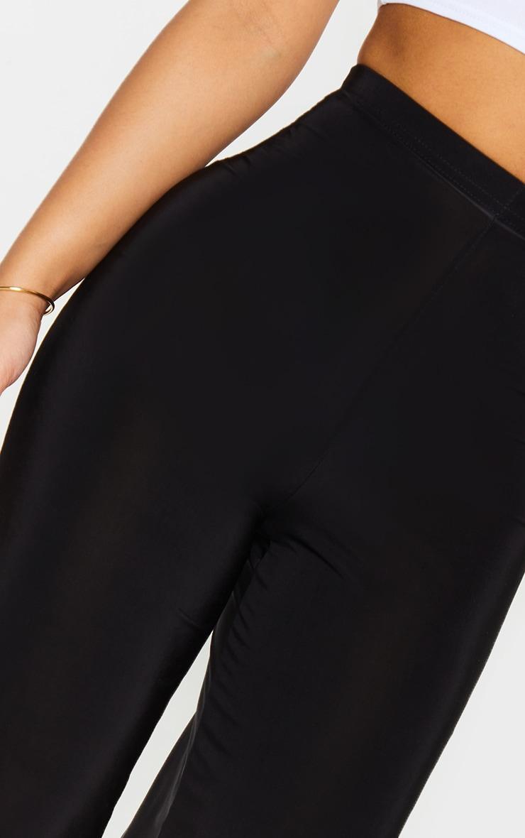 Petite Kyleigh Black Slinky Straight Leg Trouser 4