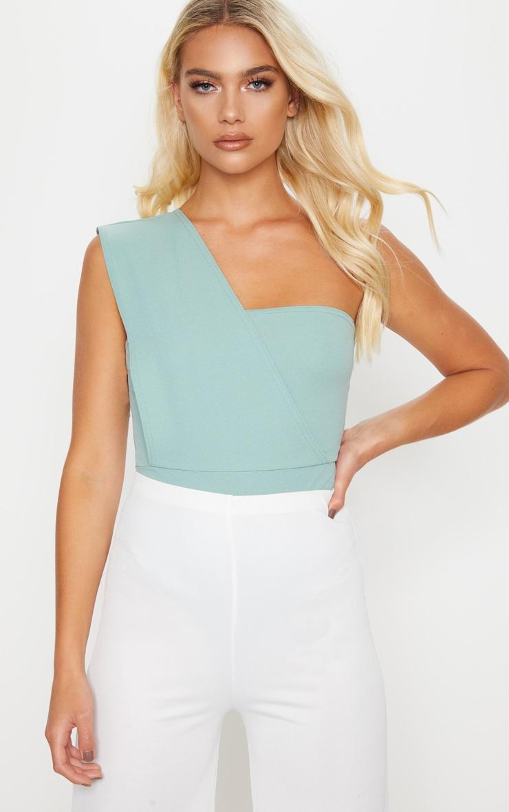 Mint One Shoulder Bodysuit