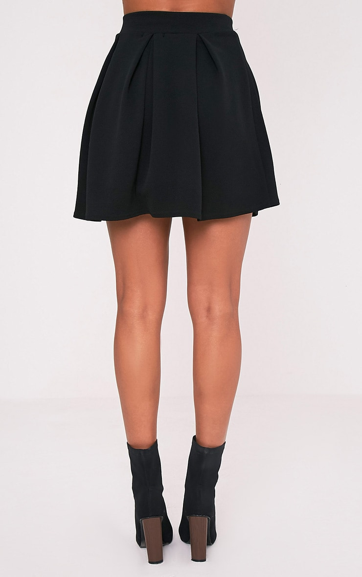 Tyra Black Box Pleat Full Mini Skirt 5