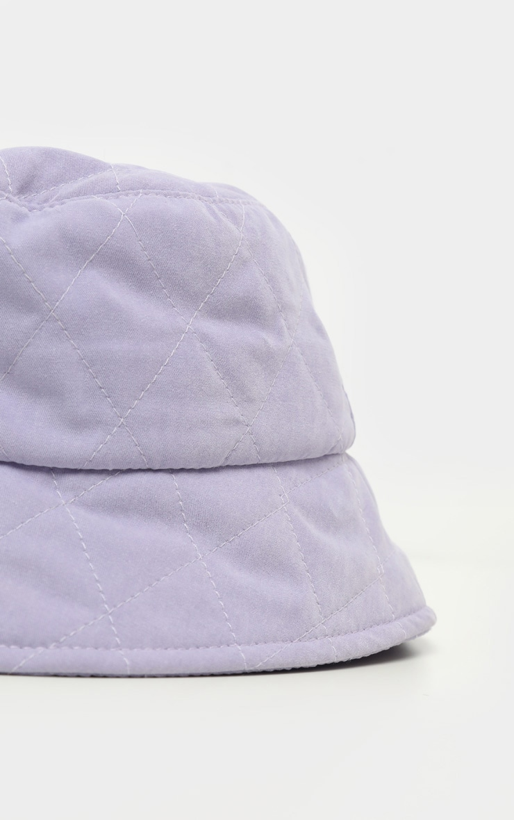 Lilac Quilted Bucket Hat 3