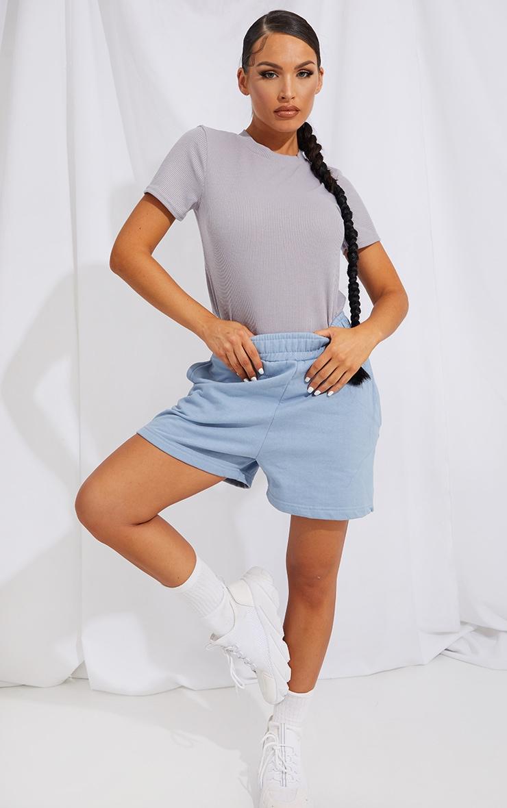 Grey Soft Rib T Shirt 3