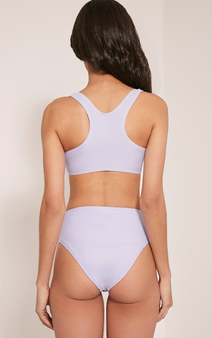 Lilianne Lilac Mix and Match Sports Style Bikini Top 2
