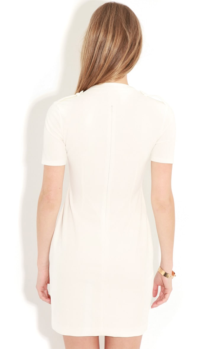 Izadora White Cut Out Buckle Dress 2