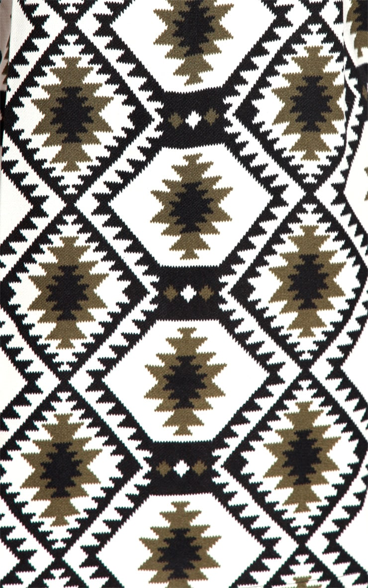 Millu Aztec Khaki Print Dress 5